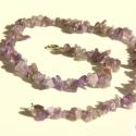 Ametiszt nyaklánc / Amethyst necklace, Ékszer, Nyaklánc,  Orgona lila törmelékes ametiszt ásványokból fűztem a nyakláncot erős gumi damilra.  A lila mániások..., Meska