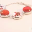 Valentin napi karkötő / Valentin's day bracelet, Ékszer, Karkötő, A legújabb trendi kiegészítő, amely bármilyen színű és stílusú ruhához viselhető a cserélhető gombok..., Meska
