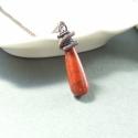 Vörös jáspis réz nyaklánc ásvány ékszer, Ékszer, Medál, Vörös jáspis hosszúkás cseppet rézzel vontam körbe. Az eredmény egy csinos, nőies ékszer lett. Az ék..., Meska
