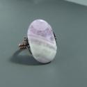 Ametiszt réz gyűrű lila ásvány állítható ékszer, Az egyedi és elegáns ásvány gyűrűbe chevron ...