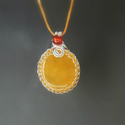 Narancs kalcit és karneol nyaklánc ásvány ezüstözött ékszer, A narancssárga színű kalcitot és a karneol ás...