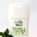 Krémes dezodor borsmenta és teafa, 50 ml tekerős deó tokban  Frissítő, sportos il...
