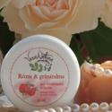 Rózsa és gránátalma 30+ bőrkisimító arckrém - normál, száraz és érett bőrre, Szépségápolás, Kozmetikum, Kozmetikum készítés, 30ml  Ezt az arckrémet a rózsaszirmok finomsága ihlette, mely nőies és gondoskodó, lágyságot és szé..., Meska
