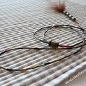 Barna tollas  nyaklánc  / 1A-001  , Ékszer, óra, Esküvő, Ruha, divat, cipő, Nyaklánc, Hosszú, végén tollban végződő, irizáló szalmagyöngy elemekből felépülő finom, hosszú n..., Meska