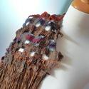 Toszkán tájak 2.  Egyedi stóla / 9I-135, Esküvő, Ruha, divat, cipő, Kendő, sál, sapka, kesztyű, Sál, Varrás, Mindenmás, Hátul középrészen mintázott egyedi stóla   Különleges egyedi textil. Speciális technikával, sok-..., Meska