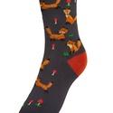 Cuki rókamintás zokni, Cukin mosolygó, vidáman szökkenő rókákkal mi...
