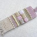 KIÁRUSÍTÁS! Pasztell III.- nyaklánc,   6,5x1,8cm-es medál finom rózsaszínes, zöldes...