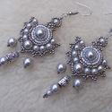 Fémműves-füli, Ékszer, Nyaklánc,  Klasszikus forma antik ezüst árnyalatban. Mérete:5,5x3cm , Meska