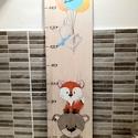 Erdei állatok 1 Magasságmérő , Otthon & Lakás, Dekoráció, Falra akasztható dekor, Famegmunkálás, Festészet,  Egyedi személyre szabott magasságmérőket készìtek 4mm Nyìrfa rétegelt lemezből.Mérete: 100*25 cm. ..., Meska