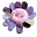 Virág baba játék, Baba-mama-gyerek, Játék, Egyedi, babyplüss és pamut anyagokból készült, mosolygós virág kislány babáknak.  19 cm széles..., Meska
