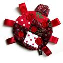 Katica baba játék, Baba-mama-gyerek, Játék, Pamut anyagokból készült katica szalag lábakkal.  100% handmade, Meska