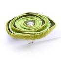 zöld poppy gyűrű, Finom vékony, valódi bőrből készült ékszere...