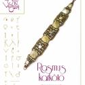 Rasmus karkötő... minta egyéni felhasználásra, Ékszer, óra, Mindenmás, Medál, Csináld magad leírások, Rasmus karkötő 2 lyukú pyramid gyönggyel  A minta tartalmaz: Részletes lépésről-lépésre képeket és u..., Meska