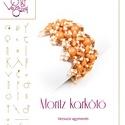 Moritz karkötő minta egyéni felhasználásra, Mindenmás, Ékszer, Csináld magad leírások, Moritz karkötő kétlyukú kabosonok és prong gyöngyök felhasználásával.  A minta tartalmaz: Részletes ..., Meska