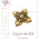 Jesper medál... minta egyéni felhasználásra, Ékszer, Jesper medál  A minta tartalma Részletes lépésről-lépésre képeket és ugyancsak részletes szöveges ma..., Meska