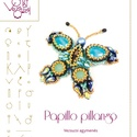 Papillo pillangó  .. minta egyéni felhasználásra, Mindenmás, Csináld magad leírások, Papillo pillangó  A minta tartalma Részletes lépésről-lépésre képeket és ugyancsak részletes szövege..., Meska