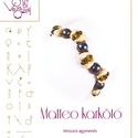 Matteo karkötő... minta egyéni felhasználásra, Mindenmás, Ékszer, Csináld magad leírások, Matteo karkötő A minta tartalmaz: Részletes lépésről-lépésre képeket és ugyancsak részletes szöveges..., Meska