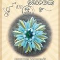 Szirom Placid medál... minta egyéni felhasználásra, Szépséges szirmos virágmedál minta  A minta ta...