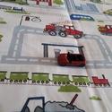 Autópályás játszószőnyeg, Játék, Baba-mama-gyerek, Készségfejlesztő játék, Gyerekszoba, 1x1 méteres autópályás játszószőnyeg garázzsal.  Pamutvászonból készült, puha bélés (v..., Meska