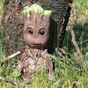 """A galaxis őrzői - Egyedi Groot szobor!, Dekoráció, Képzőművészet, Dísz, Szobor, Festett tárgyak, Szobrászat, """"Groot, élőfára emlékeztető lény, Mordály gyilkos házi kedvence. Csak egy mondatot tud mondani: ?Én..., Meska"""