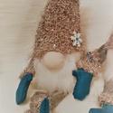 """""""Frozen"""" skandináv manó ajándék karácsonyi csomagolással együtt :), Játék, Dekoráció, Plüssállat, rongyjáték, Játékfigura, Varrás, Ez a két manópár várja, hogy otthonodat díszítsék. :) Színük ezüst-kék, szakálluk minőségi műszőrme..., Meska"""