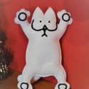 Simon's cat figura ajándék csomagolással együtt!, Játék, Dekoráció, Plüssállat, rongyjáték, Játékfigura, Magassága 21 cm, filc anyagból kézzel varrott.  Ajándék karácsonyi csomagolásban küldöm. :), Meska