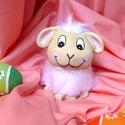 Húsvéti bárányka dekorációs figura, Húsvéti díszek, Dekoráció, Otthon, lakberendezés, Ezt a cuki bárányt fimo levegőn száradó gyurmából formáztam kézzel, majd akrilfestékkel festettem. T..., Meska
