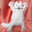 """Simon's cat/ Simon macskája bolondos figura, Játék, Dekoráció, Férfiaknak, Játékfigura, """"Az első dolgunk, hogy megbeszéljük, ki is ez a Simon's Cat. A szó jelentése Simon macskája. Simon m..., Meska"""