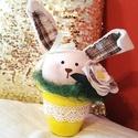 Húsvéti nyuszis dekoráció, Húsvéti díszek, Dekoráció, Otthon, lakberendezés, Dísz, Ez a cuki nyuszis dekoráció rendelésre készült, de szívesen elkészítem neked is, ha elnyerte a tetsz..., Meska