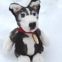 LEÁRAZVA! Szibériai husky egyedi plüss kutyus , Játék, Dekoráció, Plüssállat, rongyjáték, Játékfigura, 3990Ft helyett 3500Ft! Ez az egyedi, kézzel készült husky kutyus várja, hogy együtt játszhasson új g..., Meska