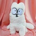 """Simon's cat/ Simon macskája 3D-s ülő plüss cica, Játék, Dekoráció, Baba-mama-gyerek, Plüssállat, rongyjáték, """"Az első dolgunk, hogy megbeszéljük, ki is ez a Simon's Cat. A szó jelentése Simon macskája. Simon m..., Meska"""
