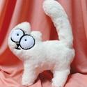 Simon's cat/ Simon macskája saját tervezésű 3D-s plüss cica, Játék, Férfiaknak, Játékfigura, Ez a cuki pihe puha Simon's cat egyedi, saját tervezés alapján készült. Extra puha műszőrméből kézze..., Meska