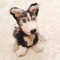 """Husky egyedi plüss kutyus """"With love"""" táblával, Játék, Dekoráció, Baba-mama-gyerek, Gyerekszoba, Ez a cuki plüss kutyus várja, hogy együtt játszhasson veled ebben a szép napsütéses időben! :)  Minő..., Meska"""