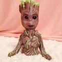 Baby Groot szobor/dekoráció a Galaxis őrzői című filmből/ Marvel szereplő, Dekoráció, Képzőművészet, Játék, Otthon, lakberendezés, Baby Grottot a Galaxis őrzői című filmből ismerhetjük, számomra az egyik kedvenc karakter ebből a fi..., Meska