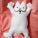 Simon's cat / Simon cicája filc mesefigura, Játék, Dekoráció, Baba-mama-gyerek, Plüssállat, rongyjáték, Simon cicája nagy vidáman és teli pocakkal várja az új gazdiját! :)  Vastag filc anyagból kézzel var..., Meska
