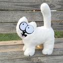 """Simon's cat+ AJÁNDÉK telefontok! 3D plüss cica """"M"""" méret / Simon cicája mesefigura, Játék, Férfiaknak, Dekoráció, Baba-mama-gyerek, Simon cicája nagy vidáman és teli pocakkal várja az új gazdiját! :)  Extra puha műszőrméből kézzel v..., Meska"""
