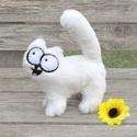 """Simon's cat/   """"S"""" méret Simon cicája 3D plüss figura, Játék, Férfiaknak, Plüssállat, rongyjáték, Játékfigura, Puha, minőségi műszőrmébőlanyagból kézzel varrtam, szemei filcből és biztonsági szemmel készültek.  ..., Meska"""