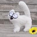 """Simon's cat/ """"S"""" méret Simon cicája 3D plüss figura leírása, Játék, Férfiaknak, Plüssállat, rongyjáték, Játékfigura, Simon fehér, mosolygós cicája bolodg lenne, ha a karácsonyfa alatt várhatná álomgazdiját! :) Extra p..., Meska"""