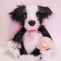 Border collie plüss kutyus / juhászkutya, aki imád birkákat kergetni :), Szerelmeseknek, Játék, Dekoráció, Állatfelszerelések, Ez a szépséges, cuki plüss kutyus rendelésre készült, de szívesen elkészítem neked is! :)  Mit kell ..., Meska