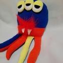 Polip szörny színes, Baba-mama-gyerek, Játék, Játékfigura, Plüssállat, rongyjáték, Polip szörny színes, puha pamutból.  40 cm, Meska