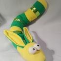 Cuki nyuszi kukac, Baba-mama-gyerek, Játék, Játékfigura, Plüssállat, rongyjáték, Cuki nyuszi kukac, puha pamutból 60 cm., Meska