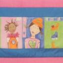 Falvédő kamasz lányoknak, Otthon, lakberendezés, Dekoráció, Lakástextil, Méret:196x65 cm Gyönyörű lakástextilből varrtam, vatelinnel béleltem. , Meska