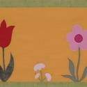 Falvédő, Otthon, lakberendezés, Dekoráció, Baba-mama-gyerek, Lakástextil, Méret:200x63 cm Vászon alapra applikációval varrtam a virágokat, gombát, pillangót. Vatelinne..., Meska