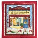 Karácsonyi textil dekoráció, Otthon, lakberendezés, Dekoráció, Falikép, Ünnepi dekoráció, Igazi ünnepi hangulatú blokkból készítettem a textil képet. Vatelin bélést kapott, így jó tartása va..., Meska