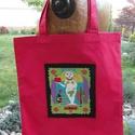 Csillagjegyes bevásárló  szatyor, Táska, Szatyor, Erős vászonból készítettem. A táska elejére gyönyörű csillagjegyet ábrázoló képet varr..., Meska