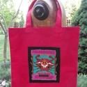 Csillagjegyes bevásárló  szatyor, Táska, Szatyor, Erős vászonból készítettem. A táska elejére gyönyörű csillagjegyet ábrázoló képet varrtam. Méret: 40..., Meska