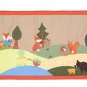 """""""Erdőszélen""""  falvédő, Baba-mama-gyerek, Dekoráció, Gyerekszoba, Baba-mama kellék, Applikációs technikával készült falvédő. Mérete:200 X 78 cm , Meska"""