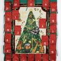 Adventi naptár, Dekoráció, Ünnepi dekoráció, Karácsonyi, adventi apróságok, Adventi naptár, Zenebarátoknak, zenészeknek ajánlom. A 13X9 cm-es zsebekbe nem csak egy cukorka fér el. Méret:82X62 ..., Meska