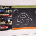 Utazó táblatextiles rajztábla autós, Otthon, lakberendezés, Lakástextil, Falvédő, Igazi újdonság! Táblatextiles, applikált rajztábla.   Krétával írható, szivaccsal törölhető dekoráci..., Meska