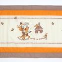 Falvédő, Baba-mama-gyerek, Gyerekszoba, Falvédő, takaró, Jó minőségű pamutvászonból, vatelinnel bélelve készítettem a falvédőt. Méret:200X65 cm H..., Meska